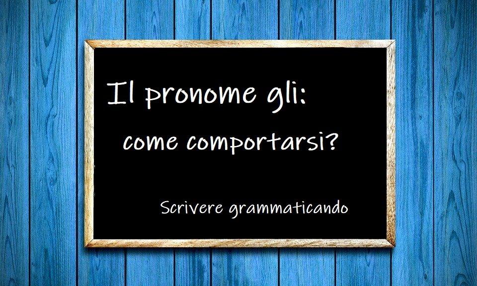 Gli pronome